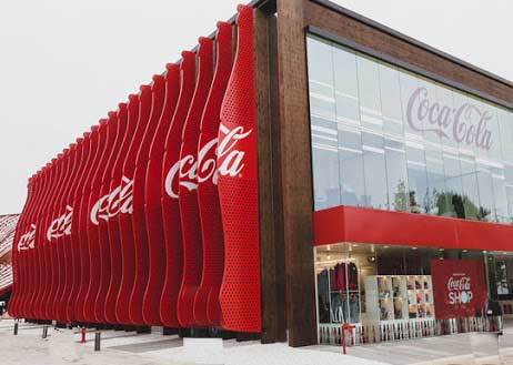 photo of Coca-cola company building- business values