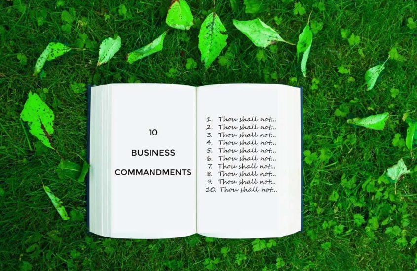 10 Commandments for business