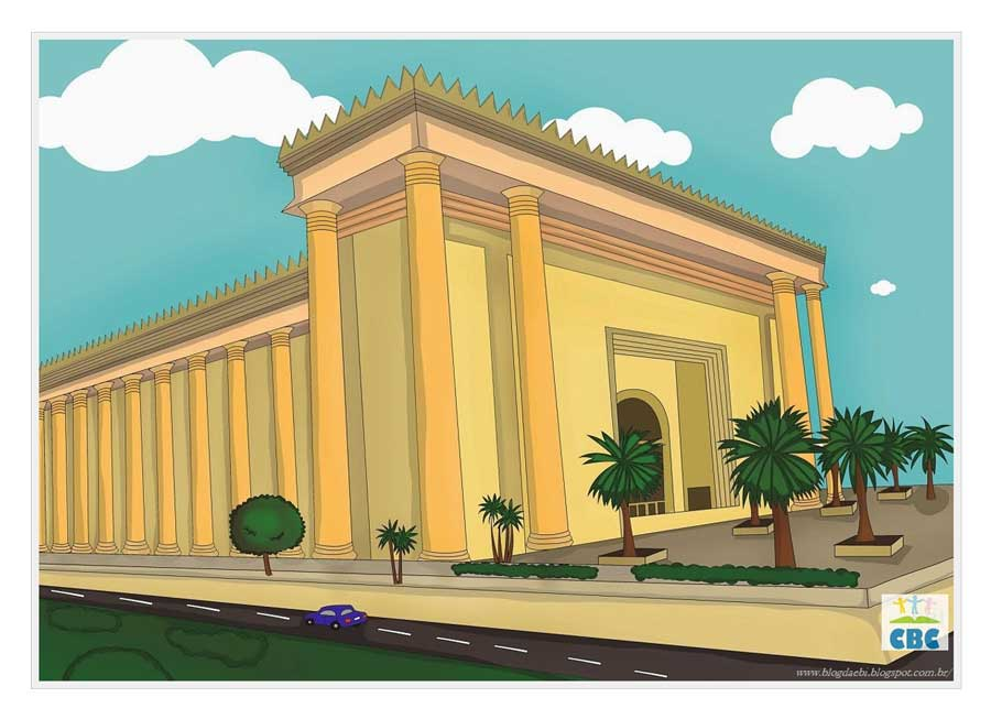 CBC drawing of Temple of Solomon