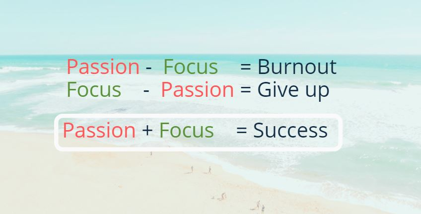 Image of passion and focus as Reasons why entrepreneurs fail